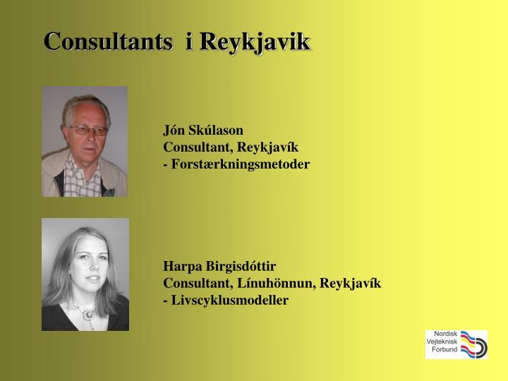 Consultants  i Reykjavik