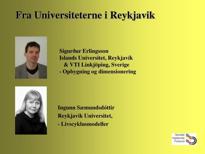 Fra Universiteterne i Reykjavik
