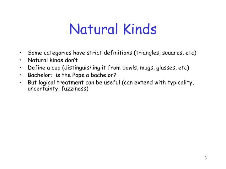 Natural kinds