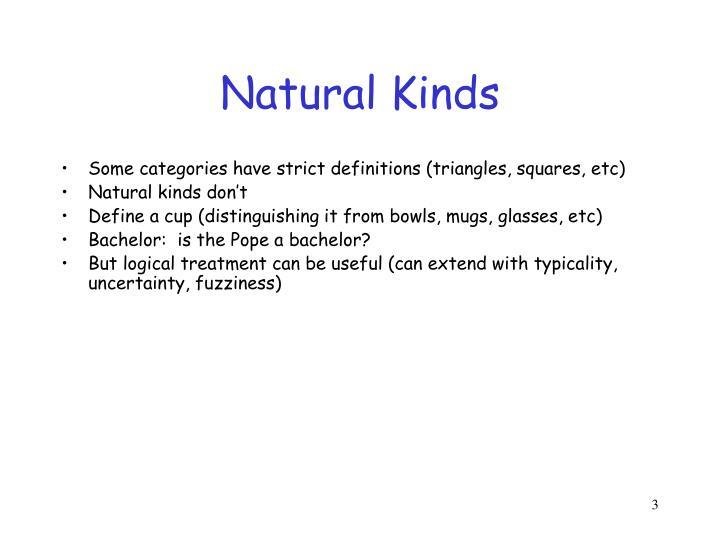 Natural Kinds