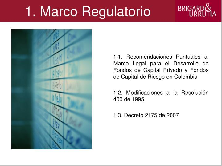 1 marco regulatorio