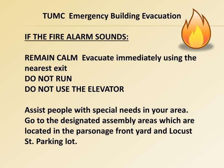 TUMC  Emergency Building Evacuation