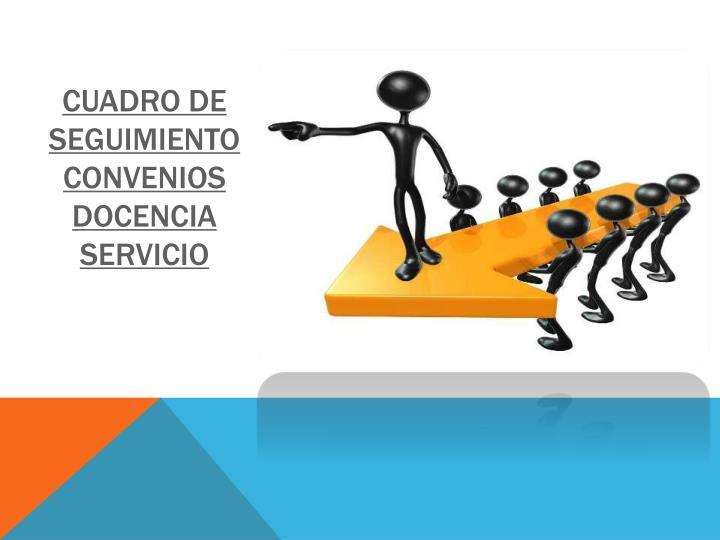 Cuadro de seguimiento convenios docencia servicio