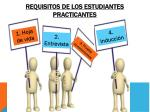 requisitos de los estudiantes practicantes