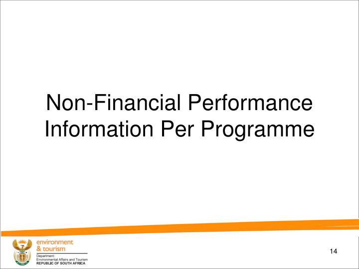 Non-Financial Performance