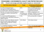 programme 2 environmental quality and protection eqp