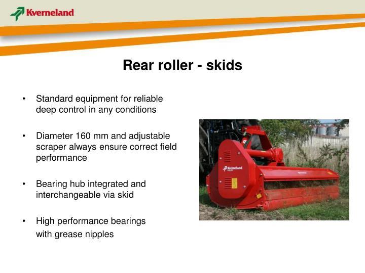 Rear roller - skids