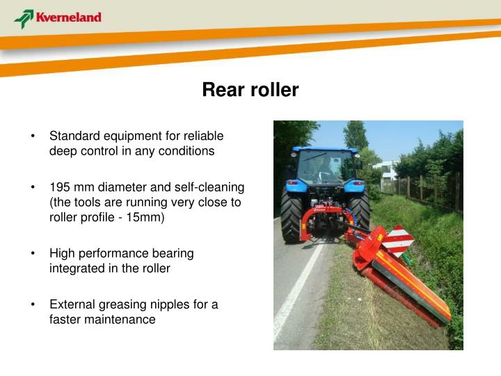 Rear roller