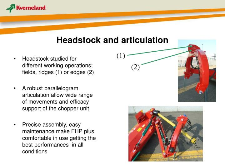 Headstock and articulation