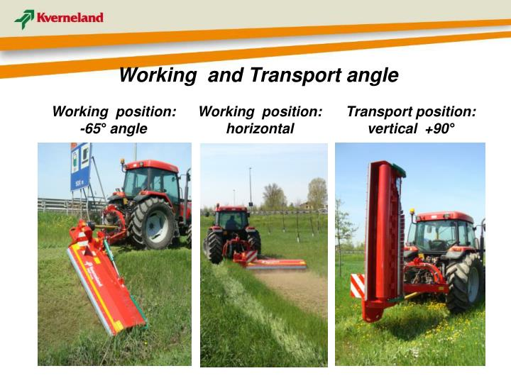 Working  and Transport angle