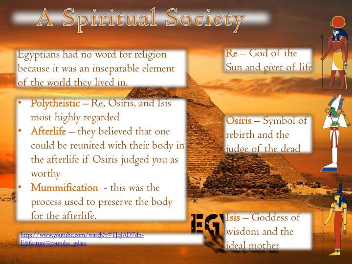 A Spiritual Society