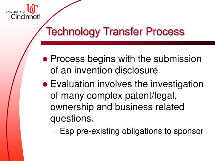 Technology Transfer Process