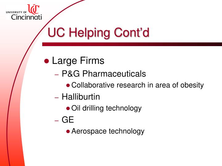 UC Helping Cont'd
