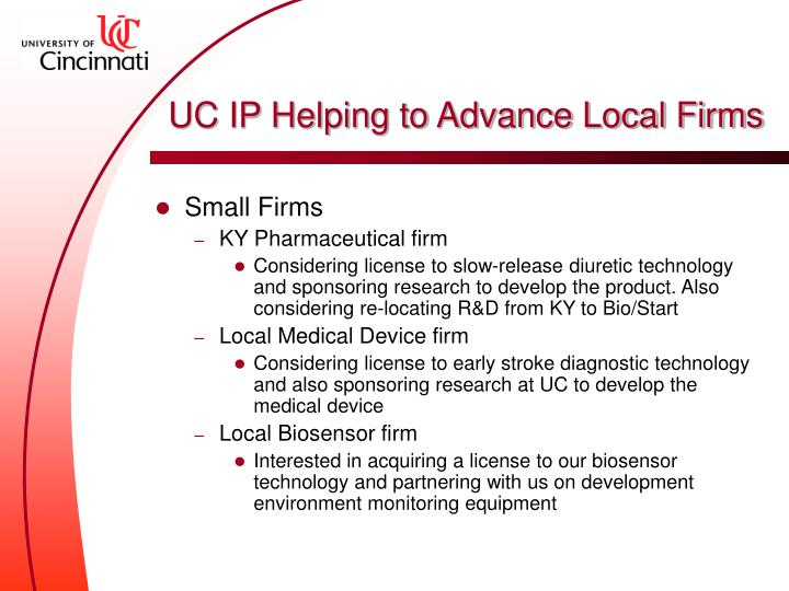 UC IP Helping to Advance Local Firms