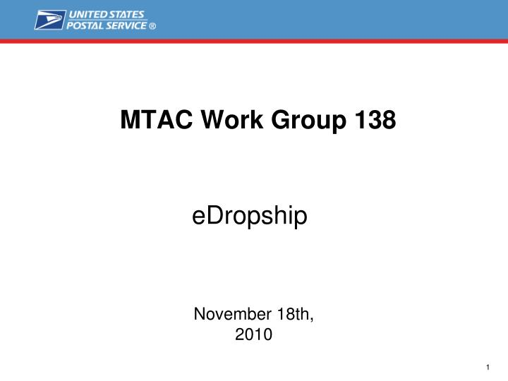 Mtac work group 138