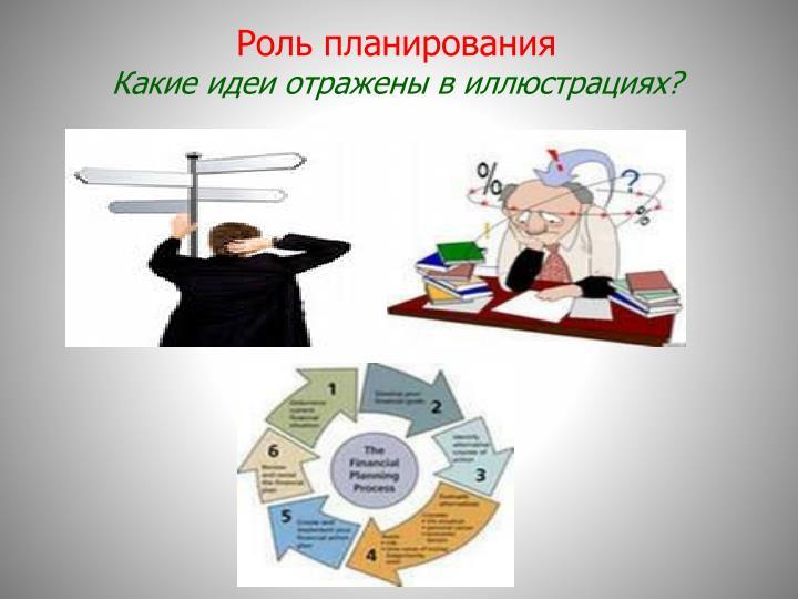 Роль планирования