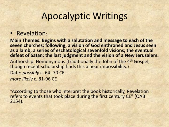 Apocalyptic Writings