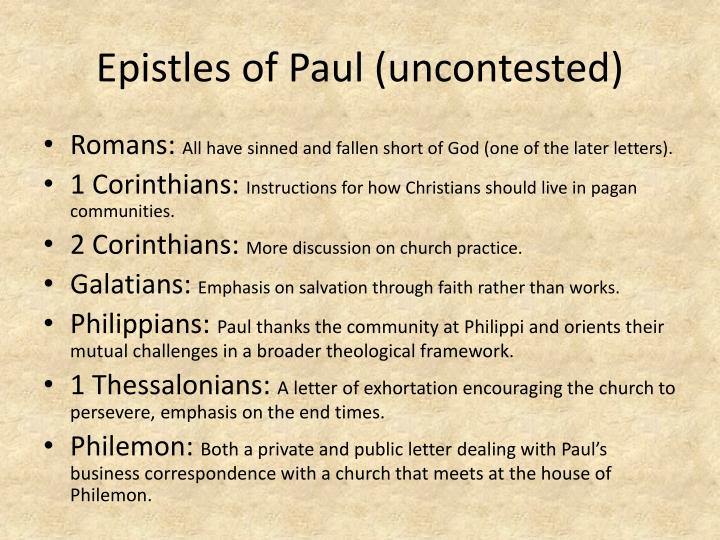 Epistles of Paul (uncontested)