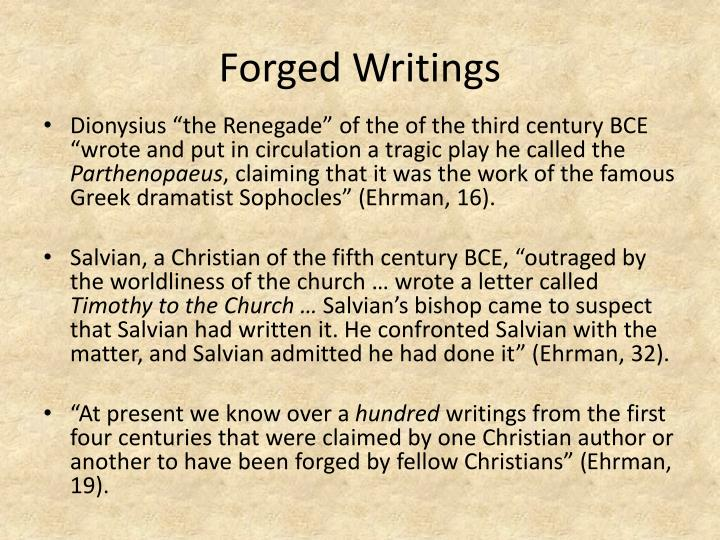 Forged Writings