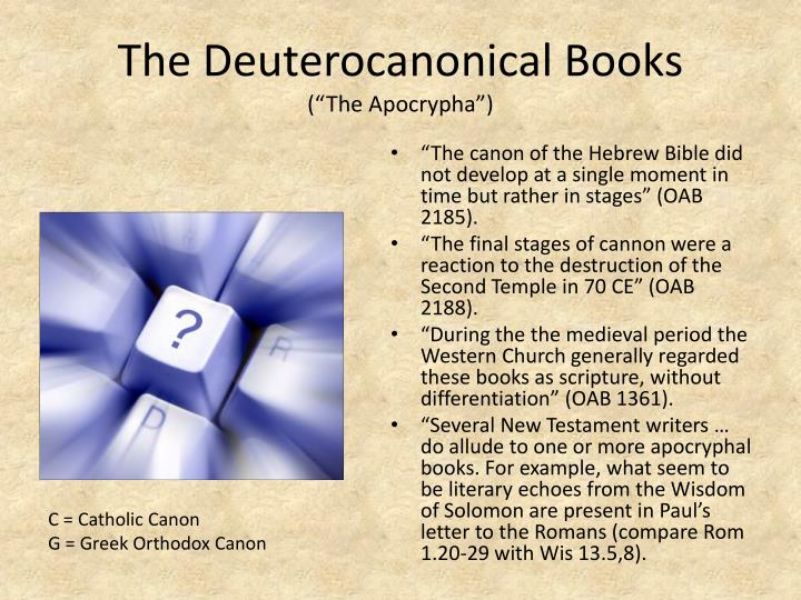 The Deuterocanonical