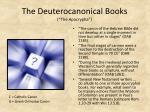 the deuterocanonical books the apocrypha