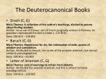 the deuterocanonical books1
