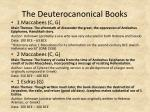 the deuterocanonical books2