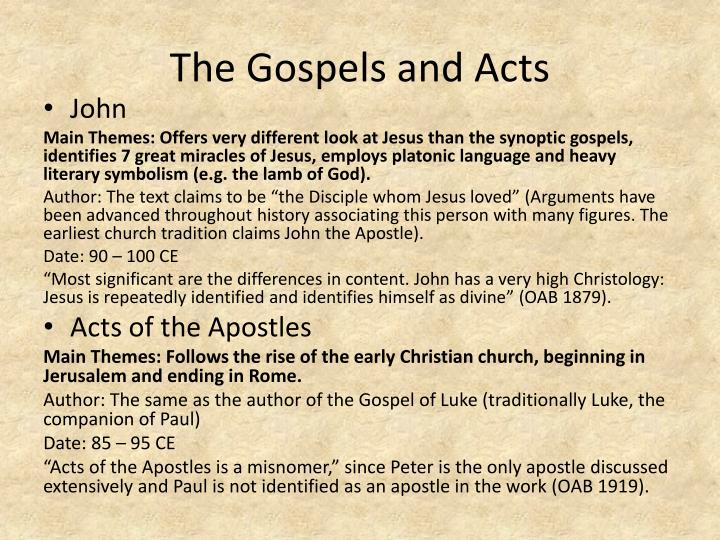 The Gospels and Acts