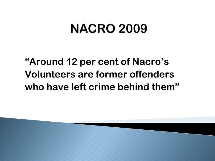 NACRO 2009