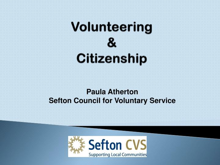 Volunteering citizenship
