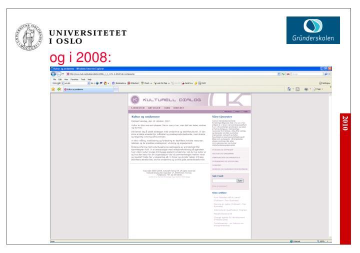 og i 2008: