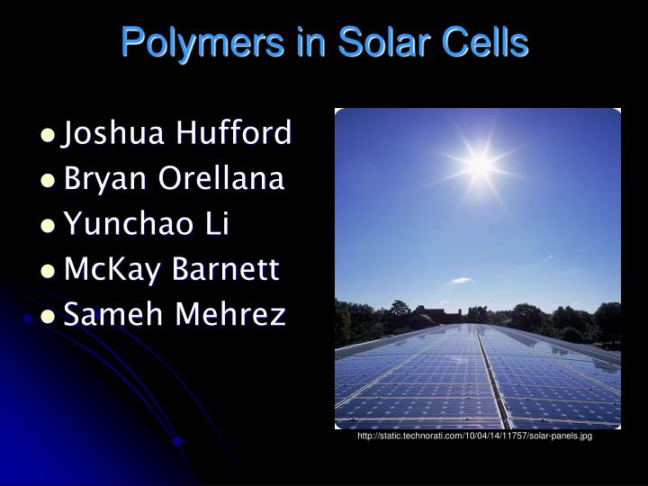 Polymers in solar cells