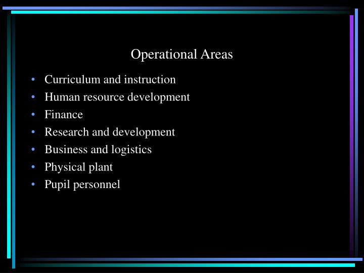 Operational Areas