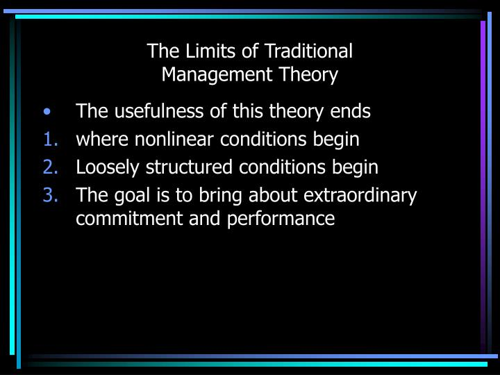 The Limits of Traditional