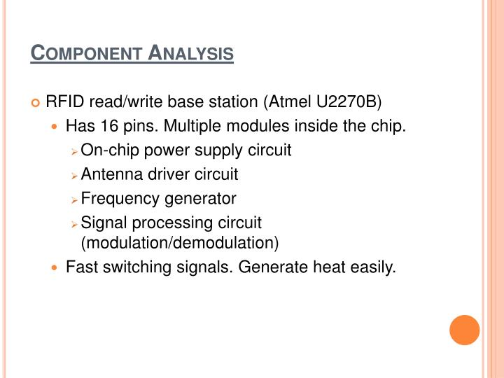 Component Analysis