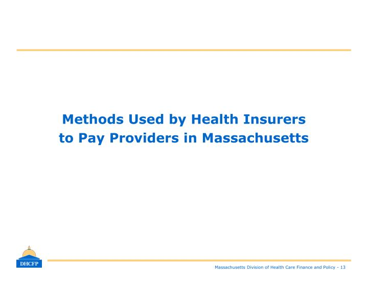 Methods Used by Health Insurers