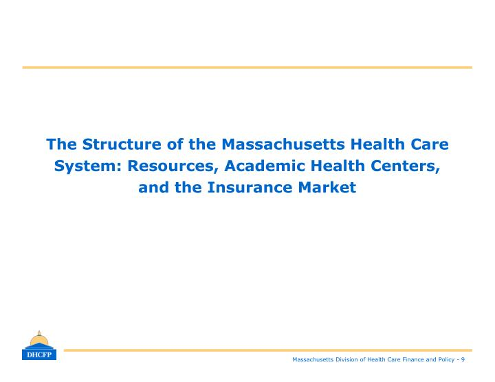 The Structure of the Massachusetts Health Care System: Resources, Academic Health Centers,