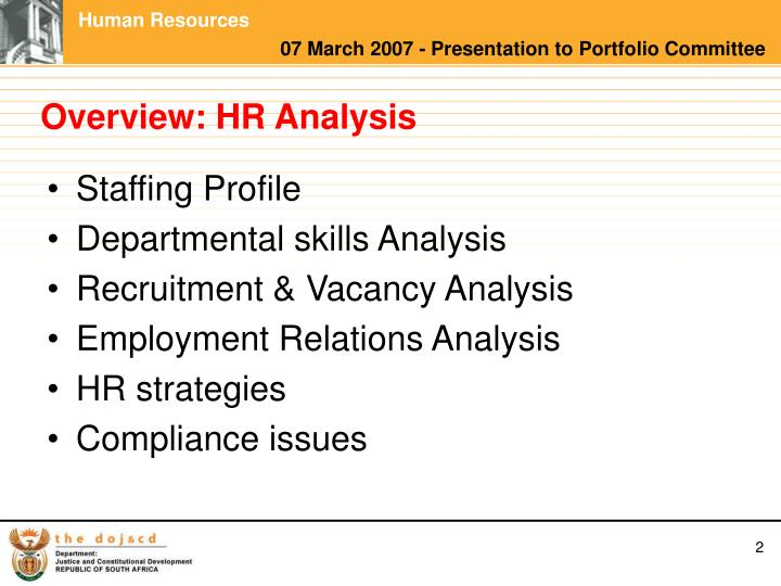 Overview hr analysis