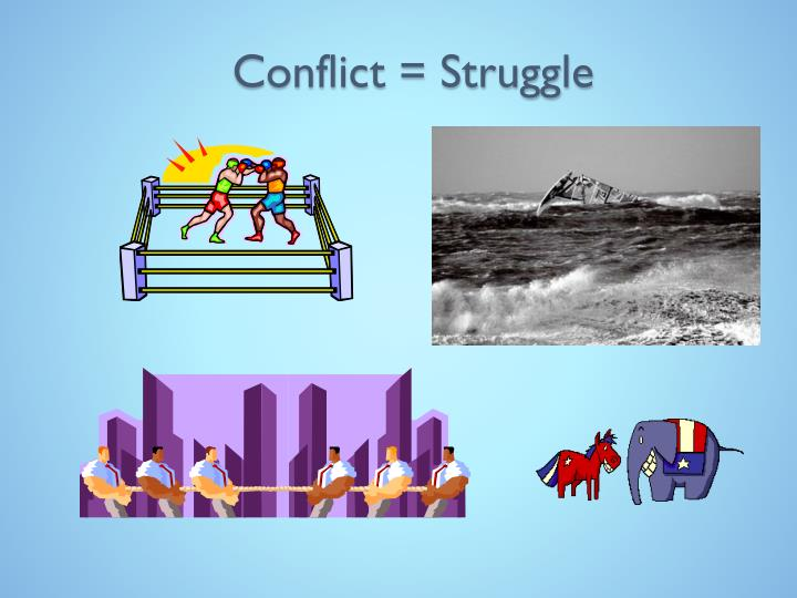 Conflict = Struggle