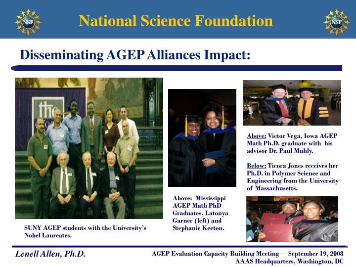 Disseminating AGEP Alliances Impact: