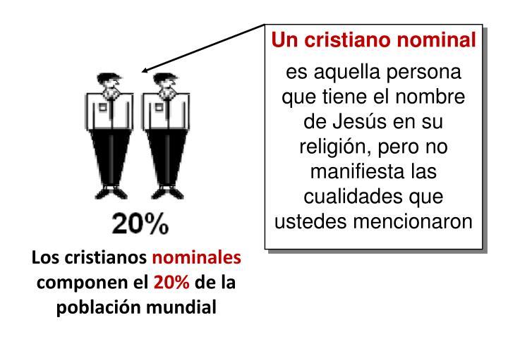 Un cristiano nominal