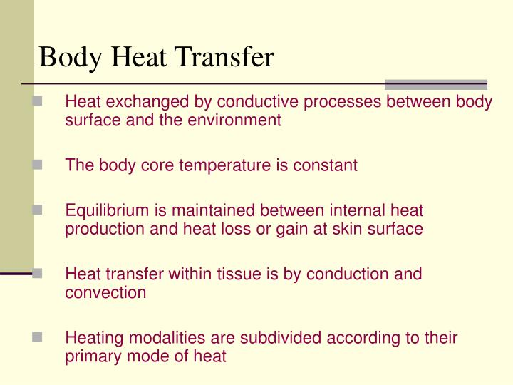 Body Heat Transfer