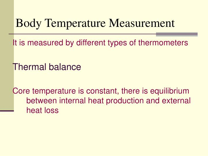 Body Temperature Measurement