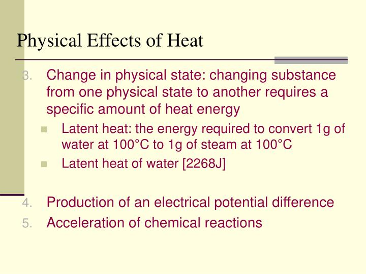 Physical Effects of Heat