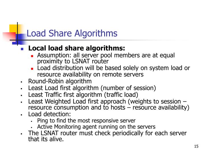 Load Share Algorithms