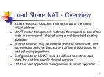 load share nat overview