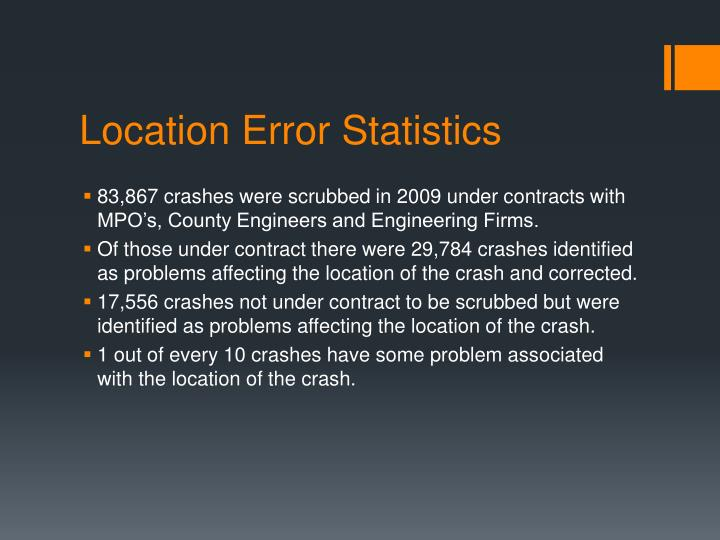 Location Error Statistics