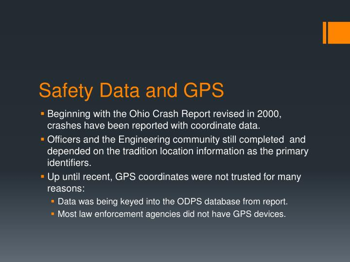 Safety Data and GPS
