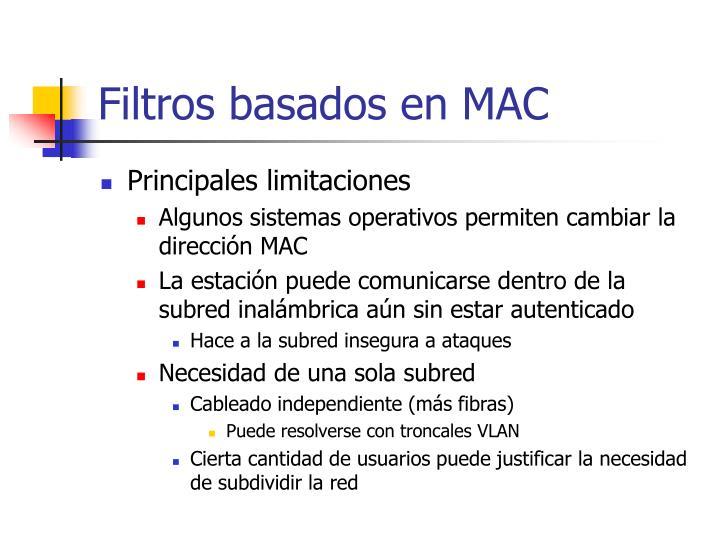 Filtros basados en MAC