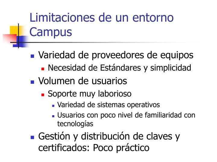 Limitaciones de un entorno Campus